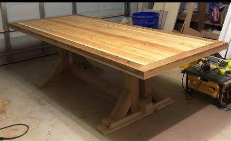 cedar farm house dining room table ana white