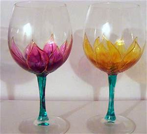 Glass Painting Wine glass painting ideas