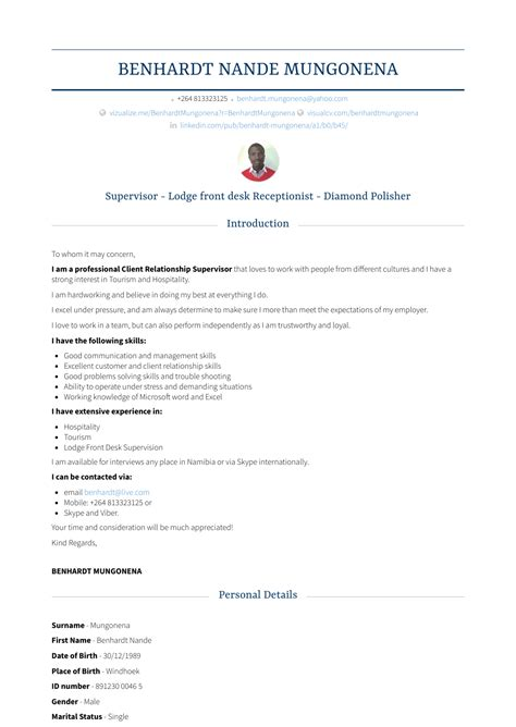 Chronological Resume For Receptionist by Front Desk Receptionist Resume Sles Templates