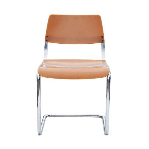 mid century modern orange tubular chair ebay