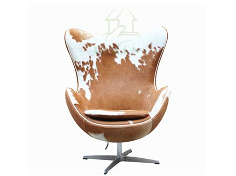 Egg Chair Cowhide by Reproduction Cowhide Leather Egg Chairs Buy Cowhide