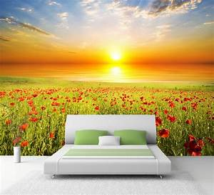 xxl poster fototapete wandtapete vlies natur mohnblumen With balkon teppich mit tapete mit mohnblumen