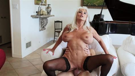Blonde Granny In Sexy Stockings Needs A Big Meat Pole Right Now