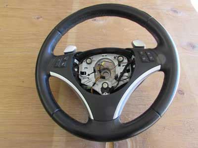 bmw sport leather steering wheel multi function  paddle