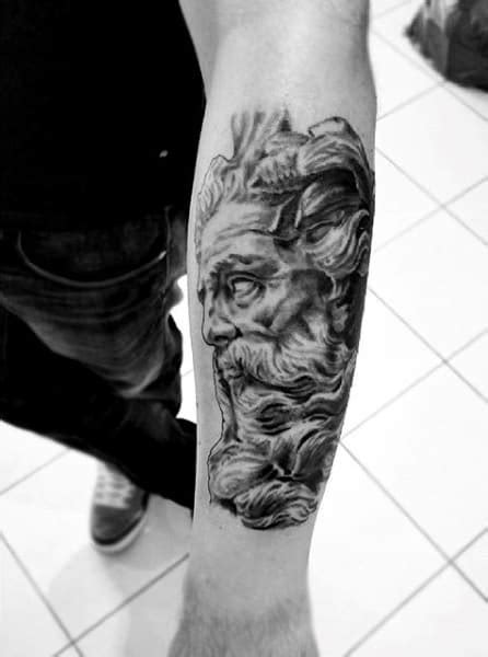 80 Zeus Tattoo Designs For Men - A Thunderbolt Of Ideas