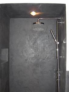 Douche L39italienne Et Plafond Effet Bton Cir En Enduit
