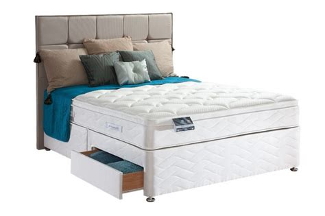 Sealy Adjustable Beds by Sealy Pearl Geltex 3ft Single Divan Bed By Sealy