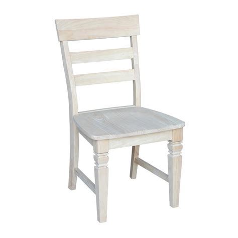 international concepts unfinished wood dining chair set