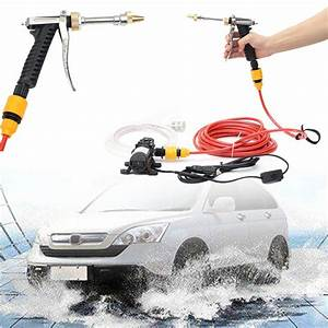 Kit Lavage Voiture : 12v 60w pompe electrique de lavage de voiture nettoyage par l 39 eau kit de outil de pulv risation ~ Dallasstarsshop.com Idées de Décoration