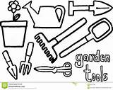 Garden Printablecolouringpages Coloring Rake Clipart Pages Markova sketch template