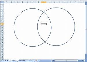 Using Excel 2007 To Make A Venn Diagram