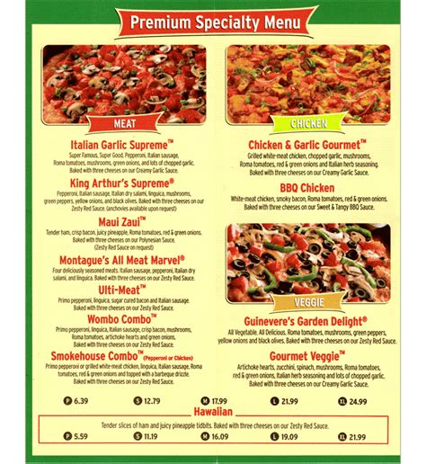 round table pizza menu prices round table pizza menu pencil cases