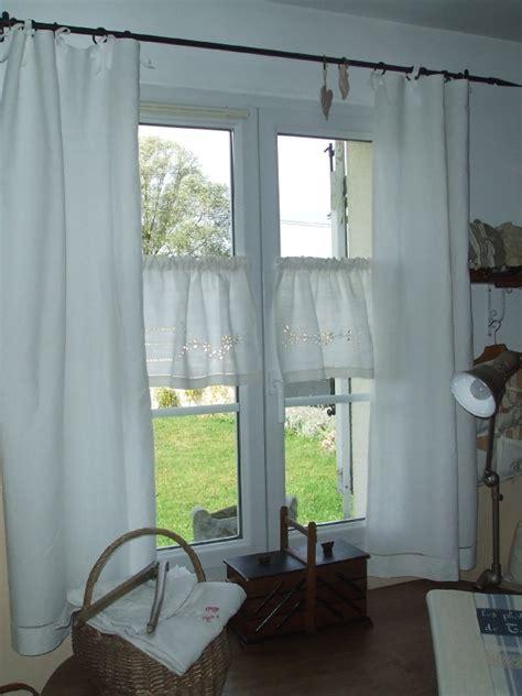 faire des rideaux avec draps anciens rideaux r 233 alis 233 s avec un drap de ancien photo de mes rideaux le point du lys