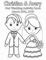 Coloring Wedding Pages Couple Bride Groom Printable Easy Getcolorings sketch template