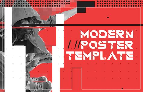 modern style poster template medialoot