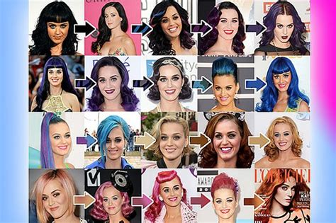 A Guide To Katy Perrys Hair Colour In Every Shade Of The