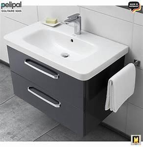Stand Waschtisch Mit Unterschrank : pelipal solitaire 9005 waschtisch set 80 cm mit duravit keramik waschtisch unterschrank mit 2 ~ Bigdaddyawards.com Haus und Dekorationen