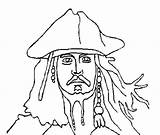 Coloring Pirates Sparrow Jack Caribbean Pages Face Pirate Anycoloring Afkomstig Van sketch template