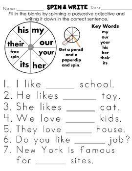 possessive adjectives angol feladatlapok
