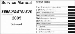 2005 Sebring Sedan  U0026 Convertible  Stratus Sedan Repair Shop Manual Original