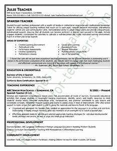spanish job application template - spanish teacher resume sample teacher resume samples