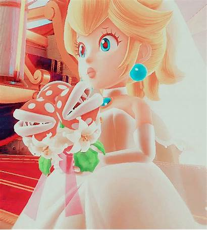 Mario Odyssey Super Peach Bridal Princess Anime