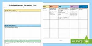 it support plan template - solution focused behaviour planning template asn