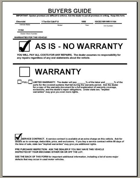 Warranty Statement Template - Costumepartyrun