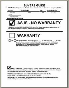 enforcing your product warranty the warranty game With used car warranty template