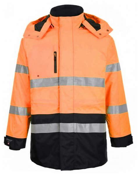 Augstas redzamības ziemas jaka Montreal, oranža/tumši zila 4 4XL, Pesso - Hi-vis ziemas jakas