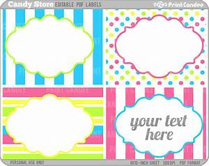 rectangle editable pdf 8x10 candy store labels With free customizable printable tags