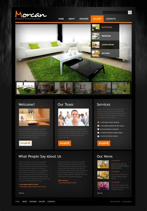 home decor website interior design psd template 42775