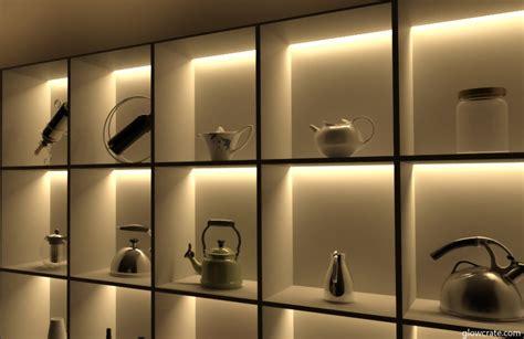 Shelf Lighting by Led Light Shelves To Create Display Decor