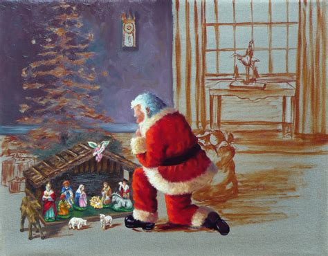 rita salazar dickerson santa claus nativity painting