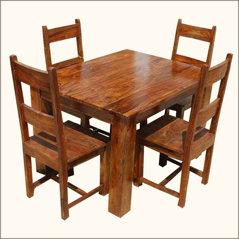 4 person kitchen table rustic 5pc kitchen dinette dining table with chairs set