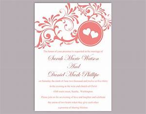 diy wedding invitation template editable word file instant With free printable heart wedding invitations