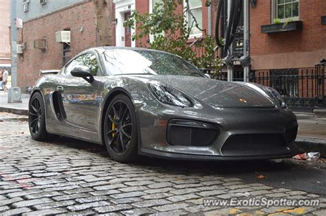 Porche Nyc by Porsche Cayman Gt4 Spotted In Manhattan New York On 08 20