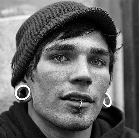 boy gabriel gauges pierced piercings 4435 on favim