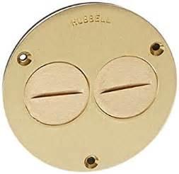 hubbell wiring systems s3725 brass round floor box duplex