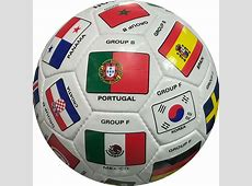 FIFA World Cup 2018 Qualifiers Country Flags Soccer Ball