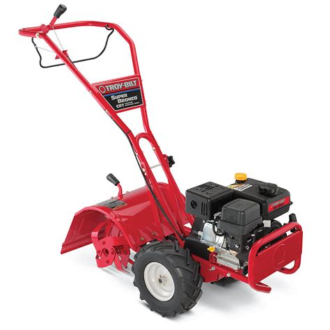 garden tillers at lowes shop troy bilt bronco crt 208 cc 16 in rear tine