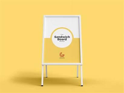Board Mockup Menu Advertisement Restaurant Psd Mockups