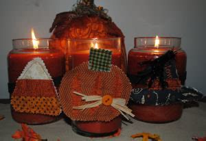 Candle Corn Wrap by Free Sewing Project Fabric Corn Candle Ring
