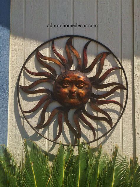 large  metal sun wall decor rustic garden art indoor outdoor patio backyard ebay