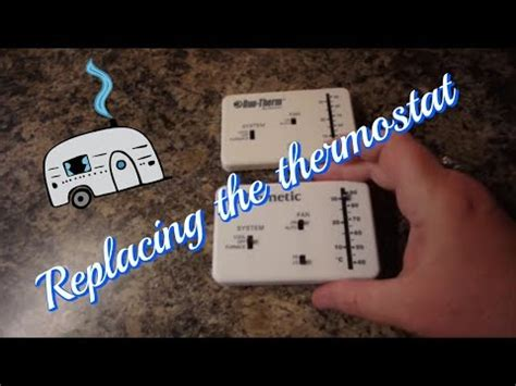 dometic rv thermostat replacement youtube
