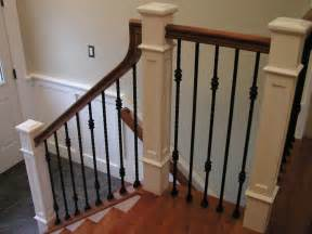 home depot interior stair railings lomonaco 39 s iron concepts home decor new railing and wainscoting in cherry hill new jersey
