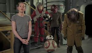 Daisy Ridley, Surrounded By Episode 8 Characters, Gets The ...