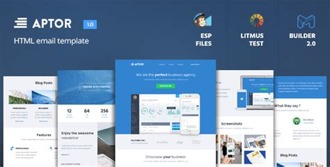 email template builder aptor html email template builder 2 0 by maileden themeforest