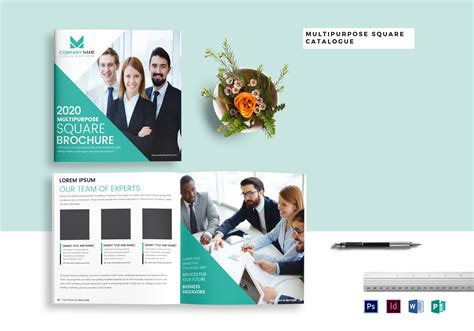 Home Design Catalogue Pdf by Multipurpose Square Brochure Catalog Template In Psd Word