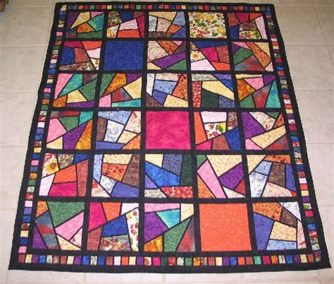 stained glass stack  whack quilt patterns stained